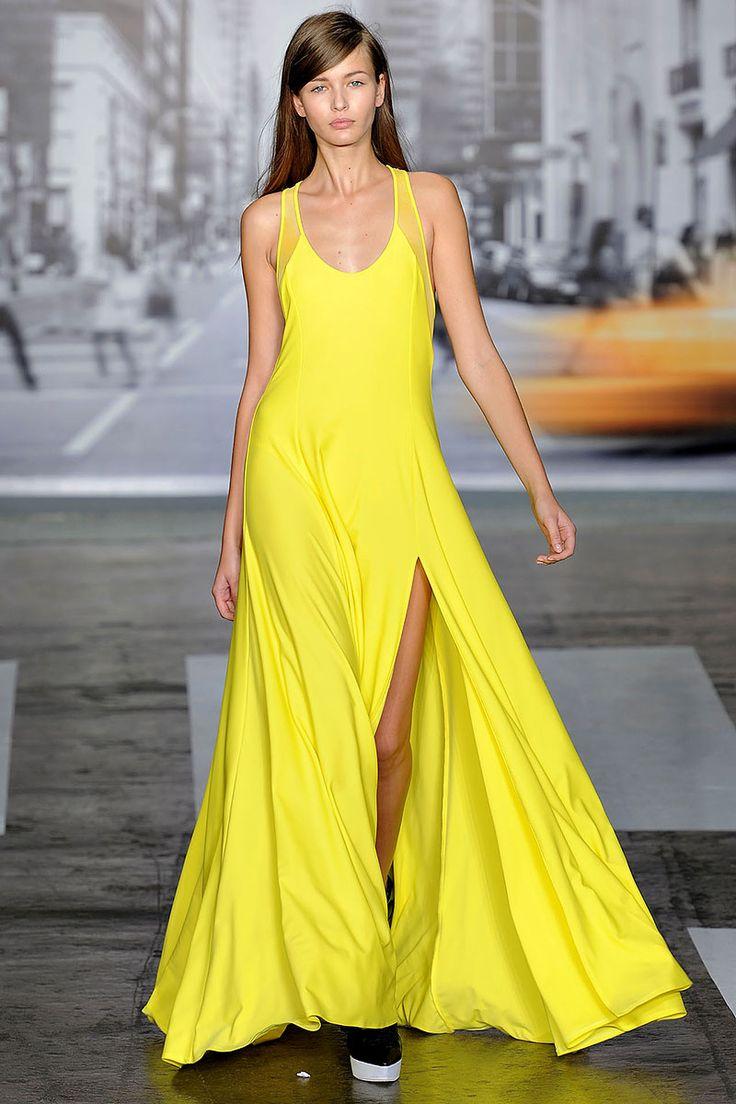 Tendencias primavera 2013 faldas vestidos largos maxi - DKNY