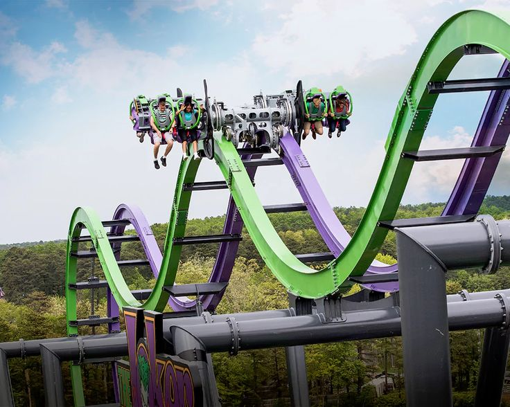 Coming to Six Flags Over Texas in 2017, The Joker, a S&S Free-Fly Coaster that'll flip you crazy