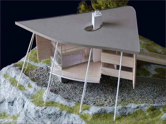 This is the model of house designed by finis architect Jyrki Tasa. by themodelmaker, via Flickr