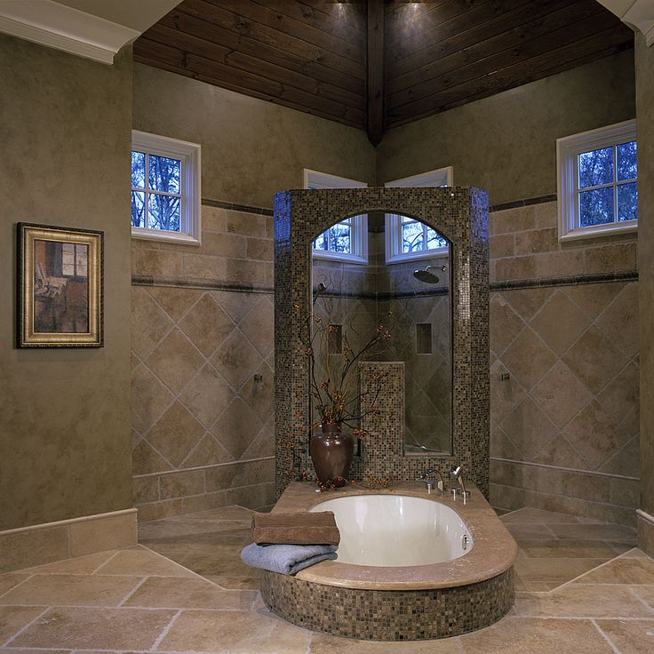 158 best neat bath tubs images on pinterest for Basement bathroom flooring ideas