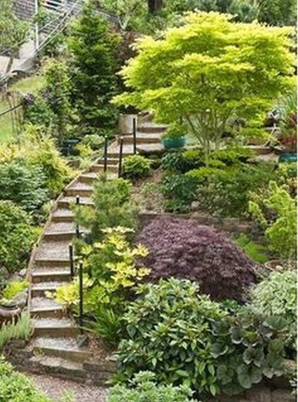Garden Steps On A Slope Ideas 20 Hillside Landscaping Sloped Garden Steep Gardens