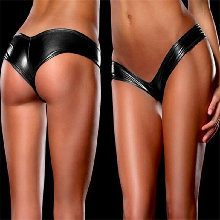2016 Sexy LaTeX Underwear Women Pole Dancing  Panties10 Colors Patent Leather Micro Mini Shorts Briefs Metallic G-Strings Thong