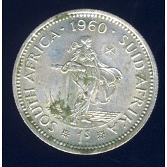 1960 Shilling coin, 1/-, South Africa, Silver, Elizabeth II , No reserve for R45.00