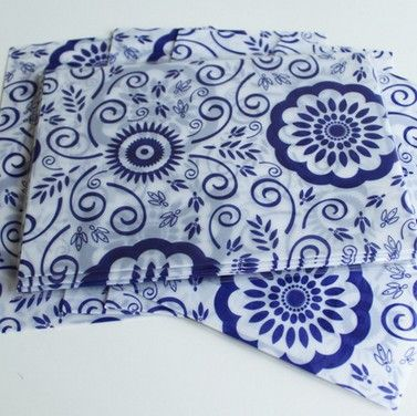 Hot selling new arrival fashion cute Fashion Cute retro Blue and white series Sulfuric acid paper envelopes.Chinese style.diy fu