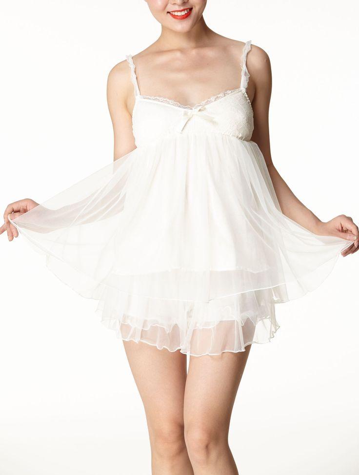 Ms Demon Set Dreamlike Suspender Two Piece Suit Wedding Nightclothes Size 2