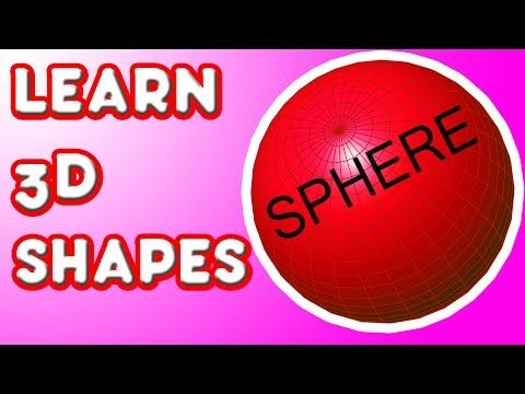 ▶ Learn 3D Shapes - SPHERE - Fun kindergarten lesson for kids - YouTube