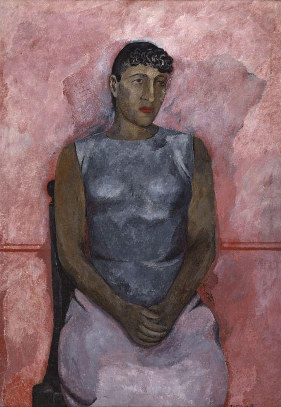 Rufino Tamayo, 1899-1991. Olga, 1935, Oil on canvas, 114.6 x 80.3 cm   LACMA Collections