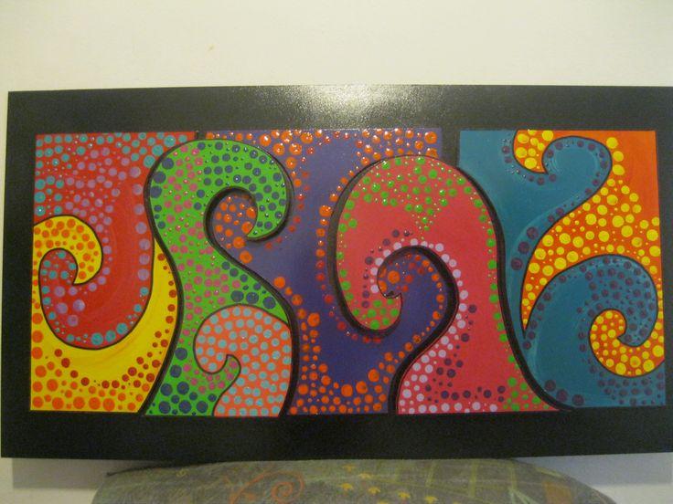 colores y formas en relieve. Bello!