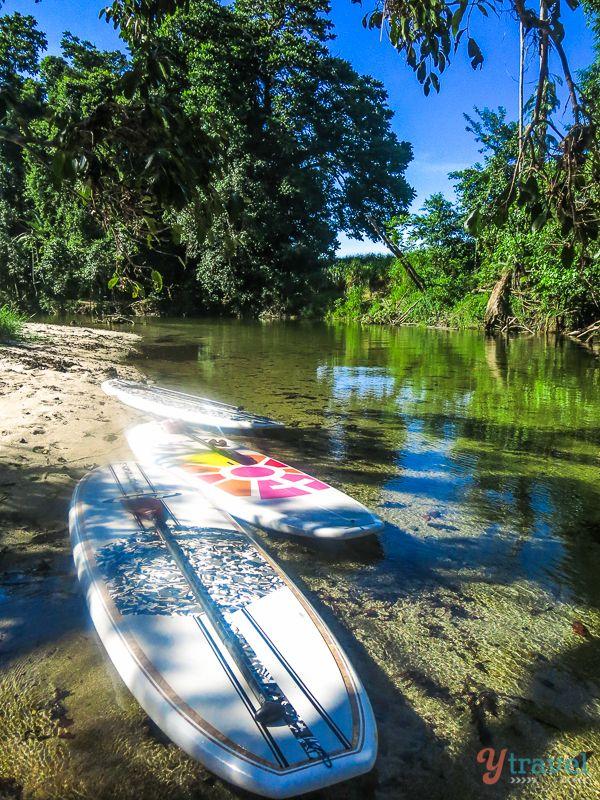 Stand Up Paddle Boarding on Mossman River, Port Douglas, Queensland, Australia