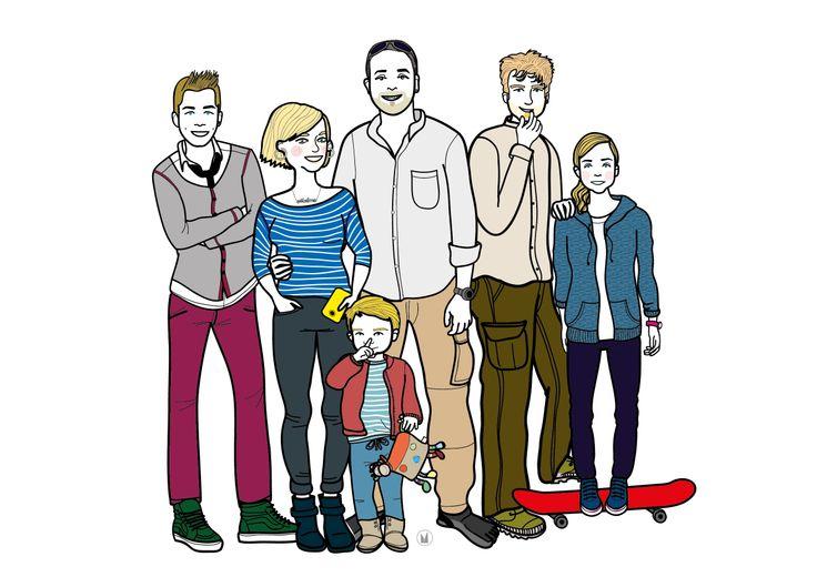 COMMANDE PRIVEE • portrait de famille personnalisé - conditions sur mon blog - http://www.myzotte.fr/portrait-de-famille-illustre/ juin 2014 © myzotte