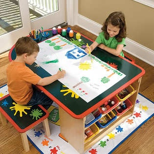 kids art table kid art and art desk on pinterest. Black Bedroom Furniture Sets. Home Design Ideas