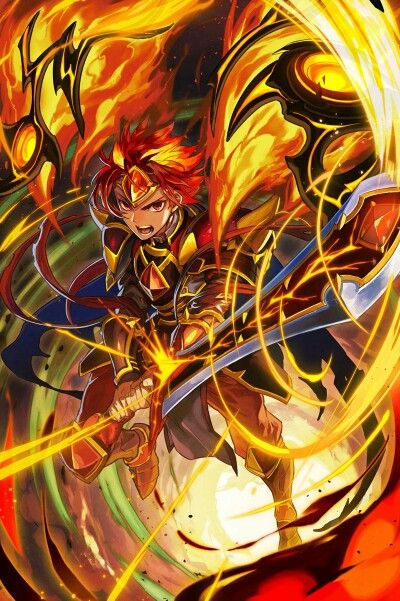 Chain Chronicle x Brave Frontier official character illustration.