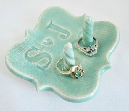 Win a hand crafted ceramic ring holder in our giveaway! (Ends 3/24)