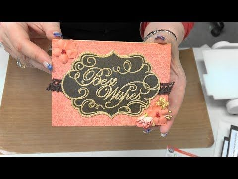 #204 Foils & Leafing Flakes with Simply Defined Embossing Folders & Foam by Scrapbooking Made Simple - YouTube