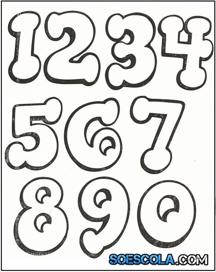 Moldes de Números para Imprimir - Pote da Tabuada - Aprendendo multiplicar de forma Lúdica
