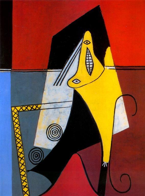 1927 Picasso Figure, Appear Huile sur Toile 128x98 cm. #Cubismo #Art #XXs @deFharo