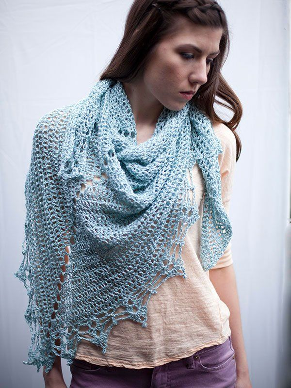 Free Crochet Edging Patterns For Shawls : free crochet pattern for triangular shawl from Berroco ...