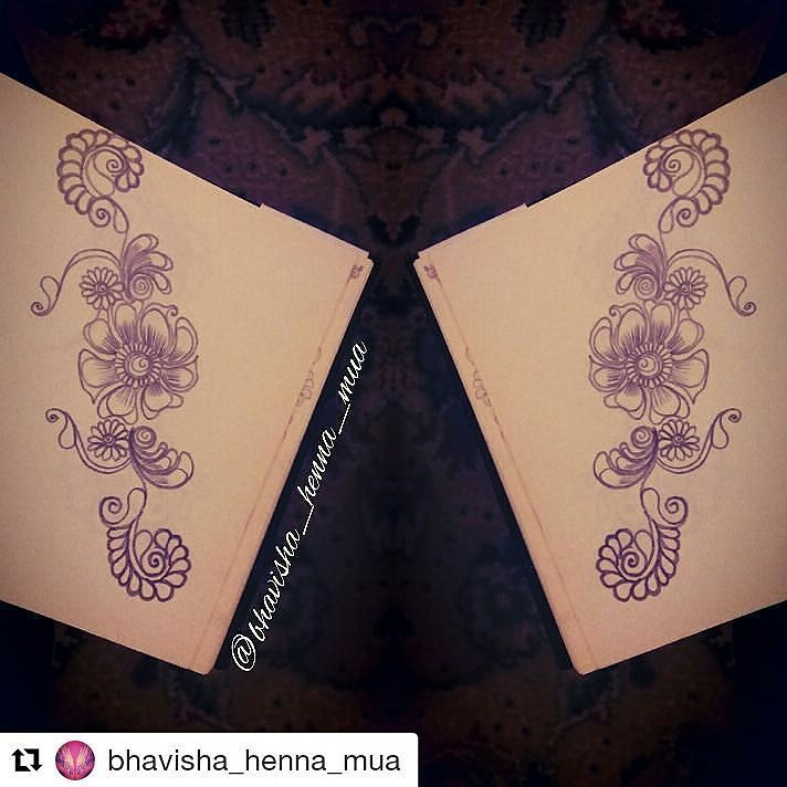 #follow@hennafamily #hennafamily #Repost @bhavisha_henna_mua  Good evening followers another sketch for you today!! Floral once again if your a begginner don't go to complex start small build up and you'll be amazed at what you can achieve with consistent practice!  ___________________________________ Remember like comment and follow to see more from me…