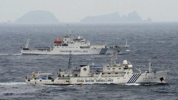 Navios patrulha chineses entram em águas territoriais japonesas, novamente. Quatro navios patrulha chineses entraram em águas territoriais japonesas, nas Ilhas Senkaku, no Mar da China Oriental