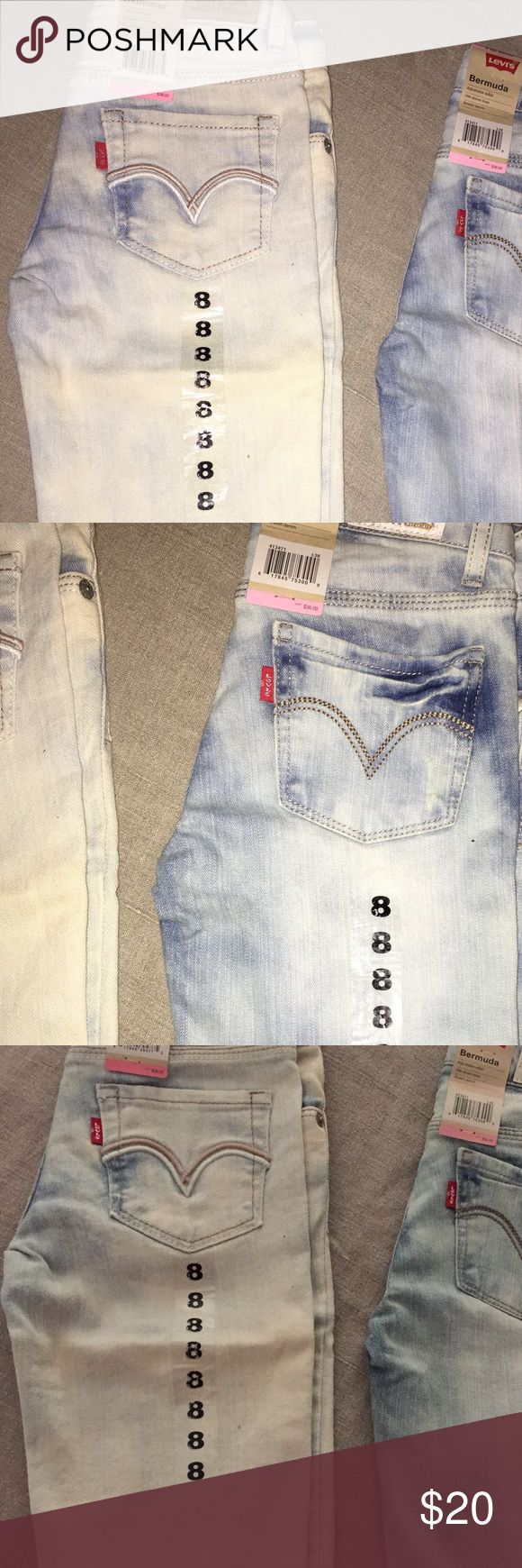 Levi's Bermuda Skimmer Shorts Girls Sz 8 Levi's Bermuda Skimmer Shorts Girls Sz 8 - Two shorts are available. One light colored. One a little darker in color. Brand new, tags attached. Price listed is for one short. If you are interested in both, I'm willing to negotiate. Levi's Bottoms Shorts
