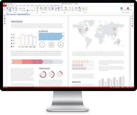 Die Arbeit mit Soda PDF 9 entspricht in vielen Fällen der Arbeit in einem Textverarbeitungsprogramm. Sie können Text hinzufügen oder verschieben sowie die Schriftart, Textgröße und Farbe ändern. Fügen Sie Bilder ein, löschen Sie sie oder schneiden Sie sie zu. Füllen Sie Formulare aus und bearbeiten Sie sie. Verwenden Sie Soda PDF 9, um PDF-Dokumente mit Notizen, Stift- und Form-Tools zu versehen, fügen Sie eine digitale Signatur hinzu und teilen Sie diese mit anderen.