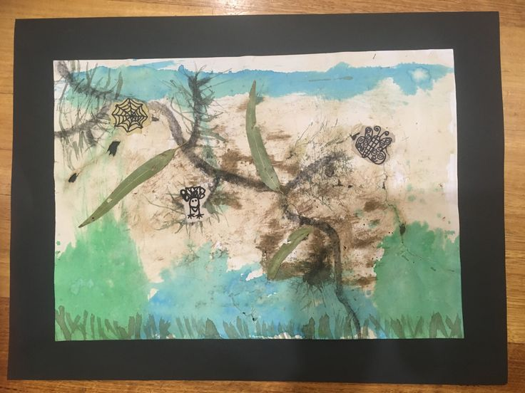 John Wolesley inspired artworks. I love these!  Took several lessons but the end results look amazing.  Mixed media including- coloured inks, dirt, sand, tea, charcoal, oil pastel, leaves, torn assorted papers