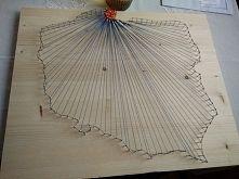 Zobacz zdjęcie Pierwsze zetknięcie ze string art. Dużo niedociągnięć (m.in zbyt cienka nitka...