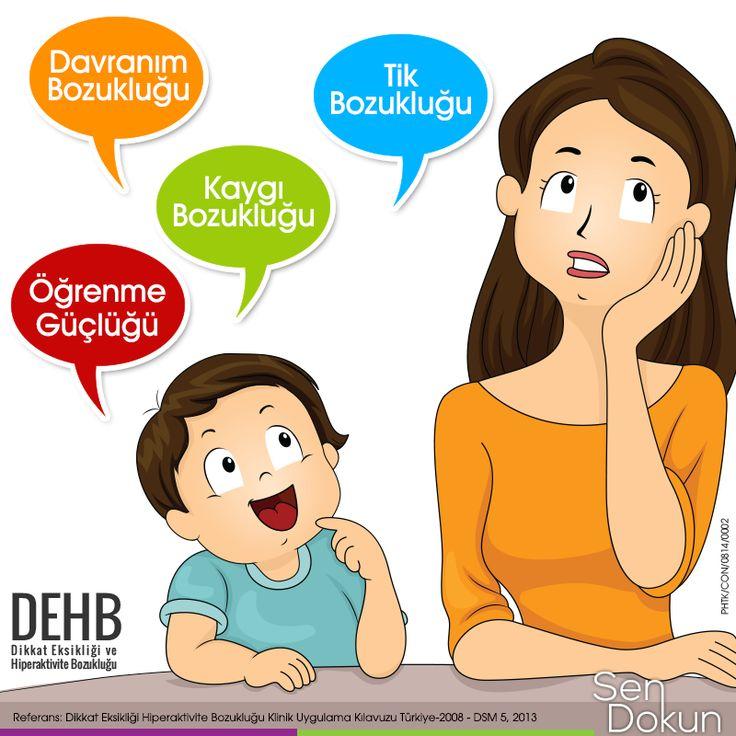Dikkat Eksikliği ve Hiperaktivite Bozukluğu olan çocuklarda görülebilen diğer problemler... #sendokun #DEHB #hiperaktivite   Test Et, Fark Et! ►https://www.dehbtv.com/dikkat-eksikligi-hiperaktivite-bozuklugu-testi/  Referans: Dikkat Eksikliği Hiperaktivite Bozukluğu Klinik Uygulama Kılavuzu Türkiye-2008 - DSM 5, 2013
