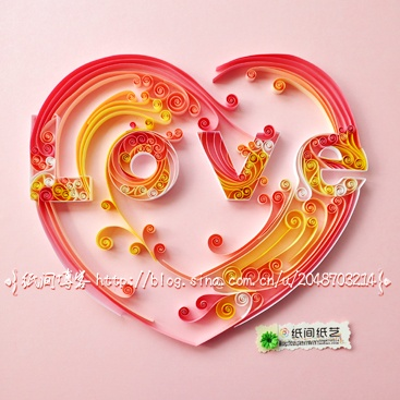 Quilled LOVE Heart
