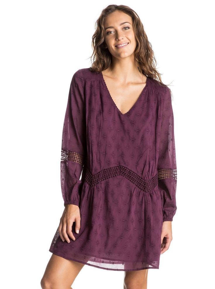 roxy, Cali Stars Long Sleeve Dress, ITALIAN PLUM (psg0)