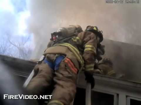 Randolph Firefighter fell out of a second-story window caught on Fire He...