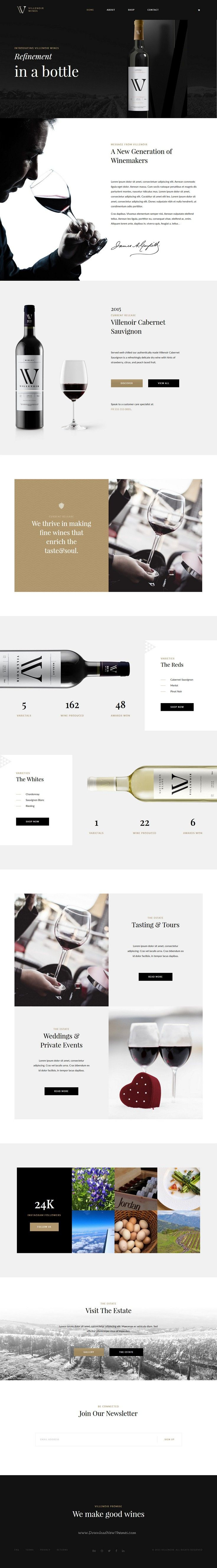 Villenoir is beautifully crafted WordPress theme best suitable for #vineyard, #winery and #wine #websites.