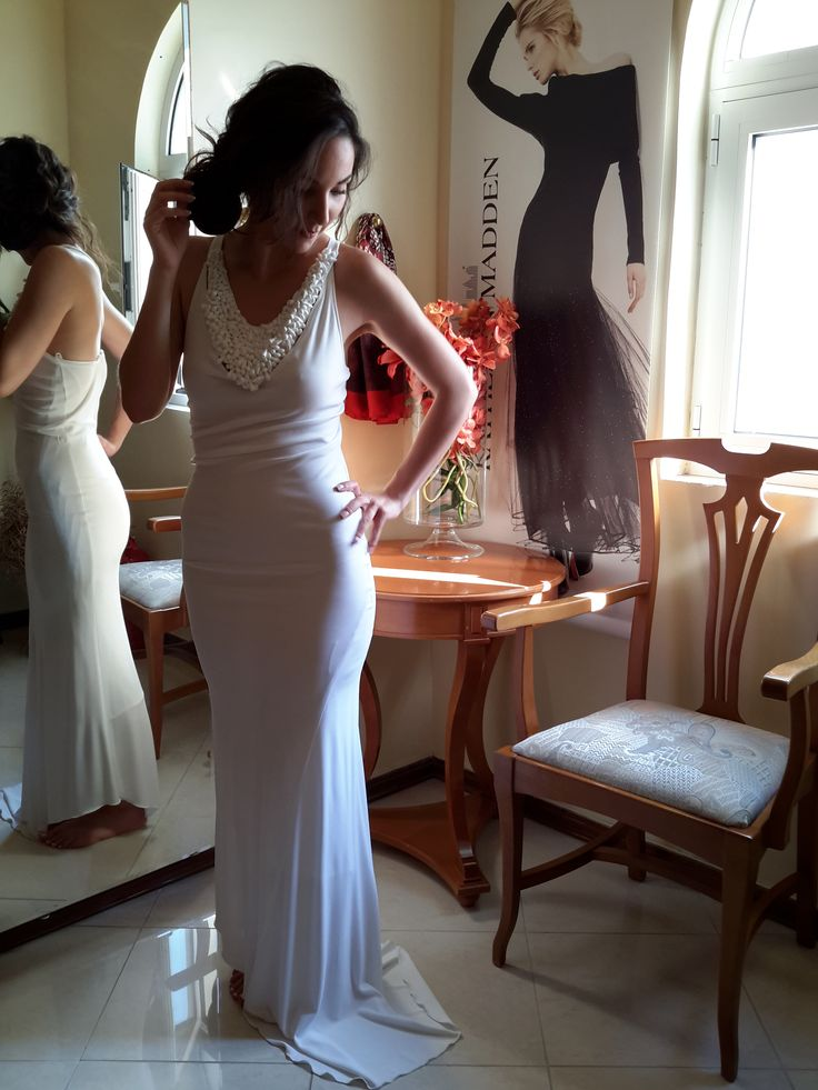 Beautiful White Maxi dress for special occassions