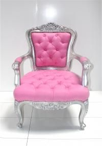 custom tufted philippe chair..in pink