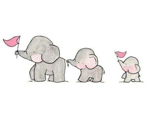 Imagen de elephant, cute, and drawing