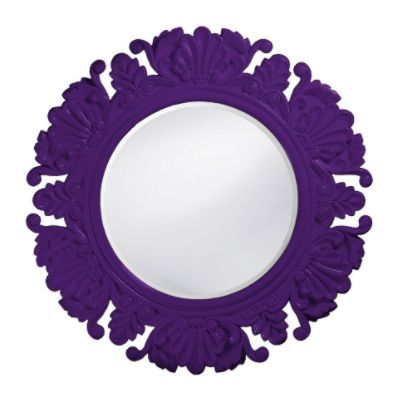 Such a pretty way to reflect light around the room. | Grandin Road Color Crush on Purple Thistle
