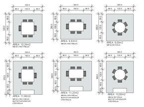 Se podemos falar em inúmeroslay-outs de banheiros, imaginem a infinidadede configurações que podemos montar para salas de jantar, estar e varanda.