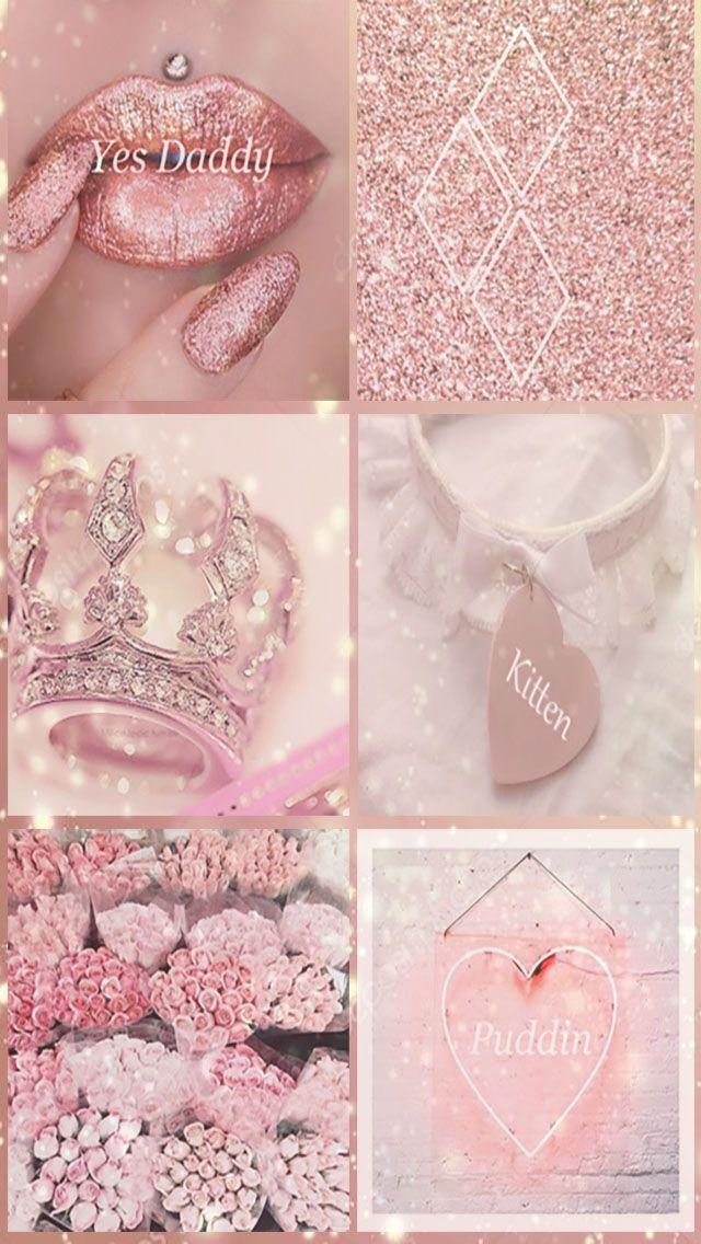 Wallpaper Iphone Lock Screen Pink Aesthetic Rose Gold Love In 2020