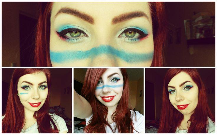 Slovakia! #makeup #style #beauty #hockey #slovakia
