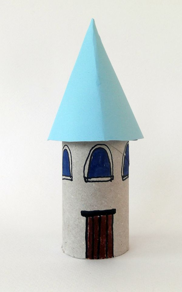 house, crafts, toiler paper roll, paper roll, kids crafts, architecture crafts,