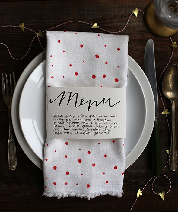 free printable menu illustration for romantic valentines day dinner (write or type your menu underneath the design!)