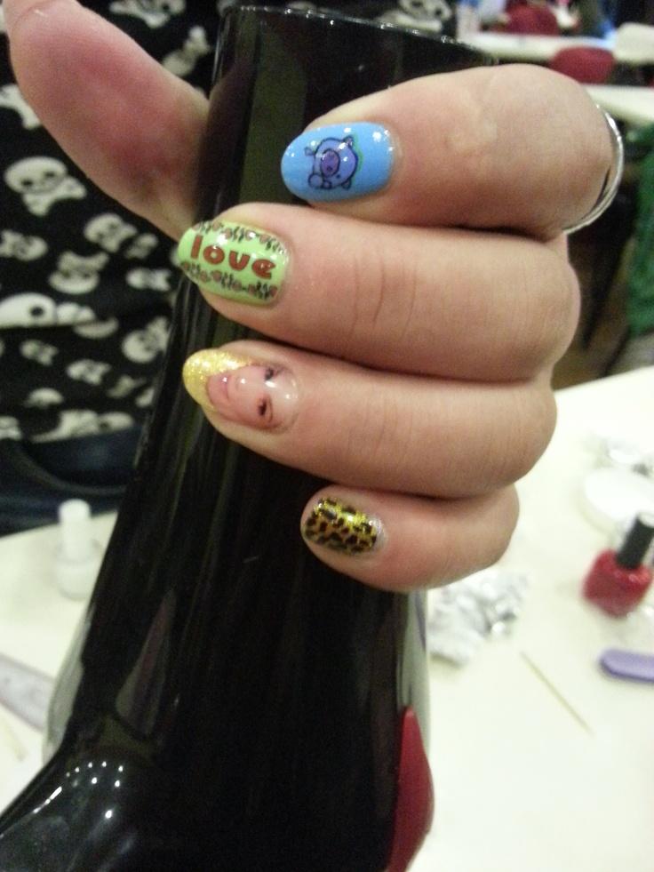 print; hot nail design; face on fingernail; Tink'd; nail art; Sydney