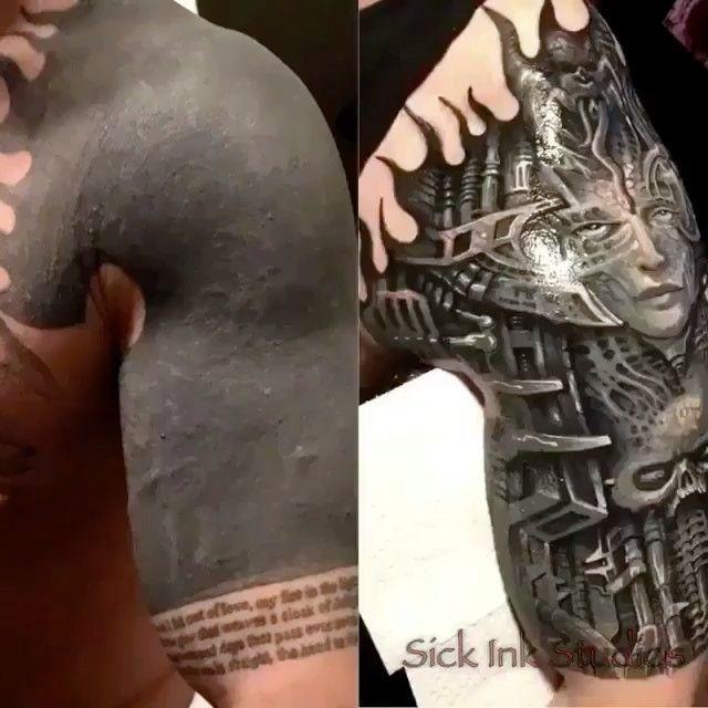 Como Tapar Un Tatuaje Con Otro Fotos De Antes Y Después Tattoo