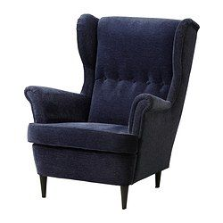 I do love this color... Paul could just add the glider mechanism   STRANDMON Wing chair - Vellinge dark blue - IKEA