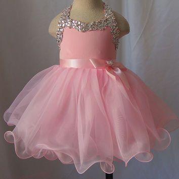Infant/toddler/baby/children/kids glitz Girl's Pageant Dress/clothing  for birthday,christmas,bridal,gift, 1~4T G079-2