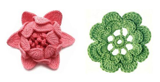 Esquemas de flores a crochet para hilo o lana