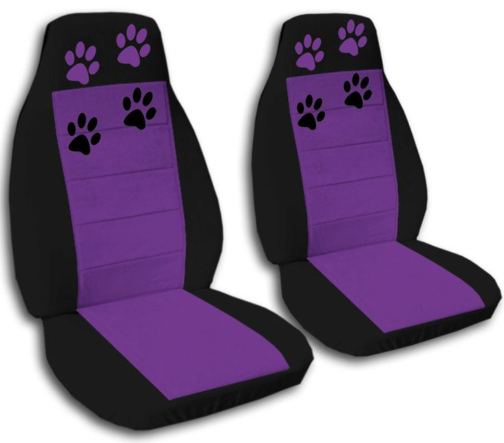 cute set PAW PRINTS CAR SEAT COVERS 12COLORS AVAILABLE