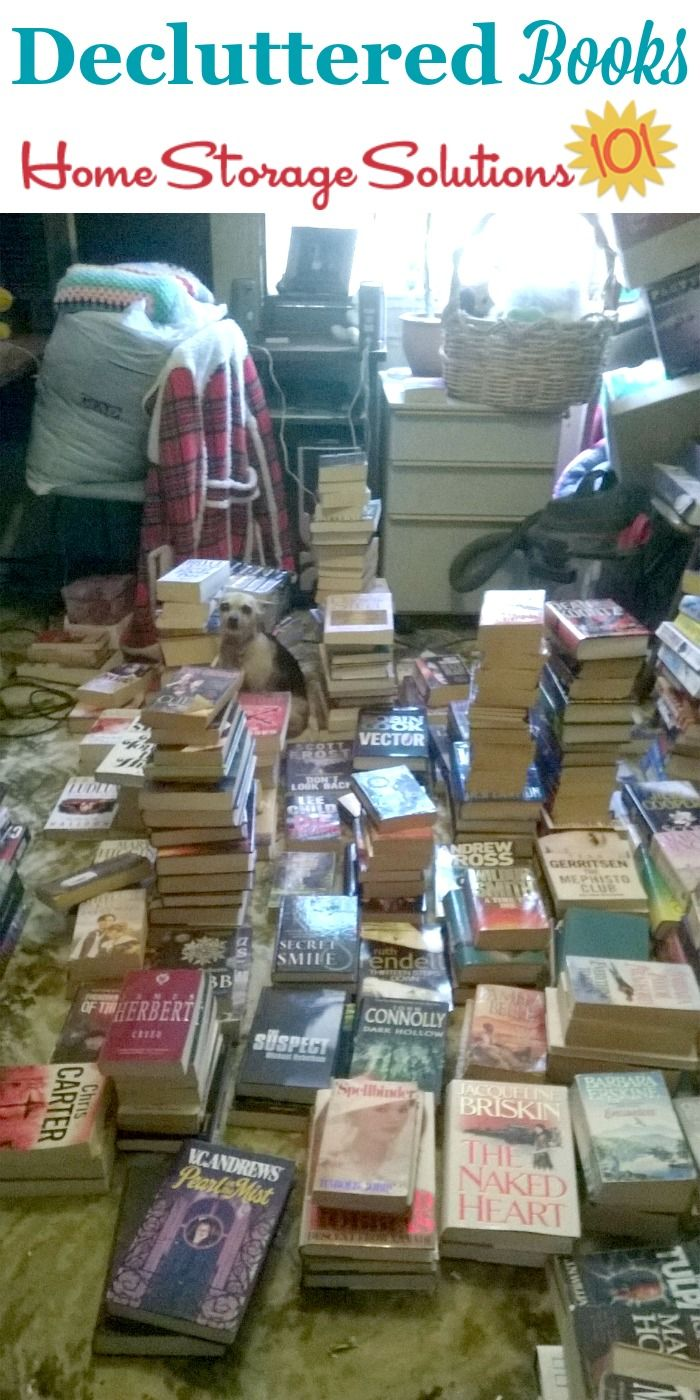 Decluttered books from a reader, Glynne, when she did the #Declutter365 mission to remove book clutter {on Home Storage Solutions 101} #Decluttering #DeclutterBooks