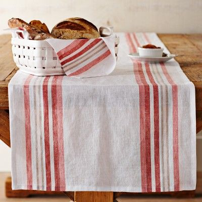 Yarn Dyed Multi Stripe Table Runner #WilliamsSonoma