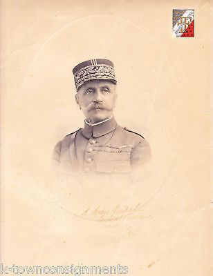 FERDINAND FOCH WWI FRENCH MILITARY GENERAL AUTOGRAPH SIGNED PHOTO ENGRAVING